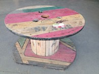 Table basse touret couleur